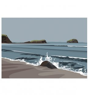 Bass rock from Seacliff beach.ianmitchellart.com
