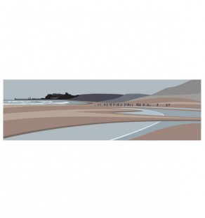 Panoramic.Sandsend.Beach.staithes.studios